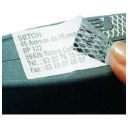 Etiquettes polyester pour imprimante laser - Adhésif à damier