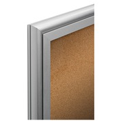 Inside display with swinging door cork panel 4 sheets A4