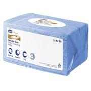 Pak met 40 sponsachtige microvezeldoeken Tork Premium blauw