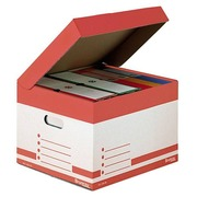 Caisse archives mini carton Bruneau H 27 x L 39 x P 36 cm couleurs assorties