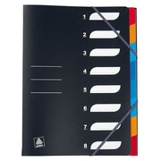 Organizer in polypropylene 8 divisions non-translucent black