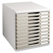 Classifying module Exacompta Modulo 10 drawers black with colored borders