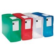 Boîte de classement plastique Viquel dos 12 cm couleurs translucides assorties