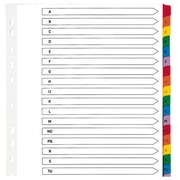 Dividers A4+ white bristol Elba 20 alphabetical tabs multicolored - 1 set