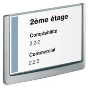Plaque murale 17,5 x 23,5 cm Click Sign Durable blanche