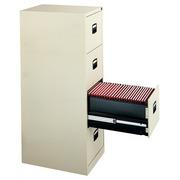 Classeur monobloc 4 tiroirs Confort gris