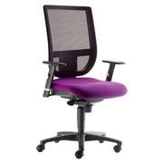 Bürostuhl Zeila Rücken in Netzstruktur Sitzung in violett