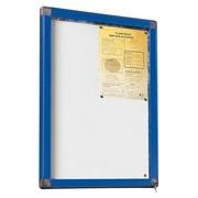 Outdoor information board, hinged door, aluminium frame, 4 sheets