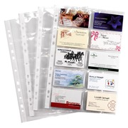 Packet of 10 sleeves polypropylene for business cards 21 x 29,7 cm