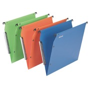 Suspension files for cabinets 33 cm polypropylene, normal bottom, assorted colours