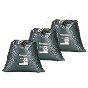 Set 2 x 100 vuilniszakken 30 liter Bruneau met stropsluiting + 1 gratis