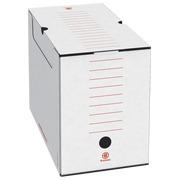 Recyclete Bruneau Archiv-Schachtel, weiß, Dicke 15 cm