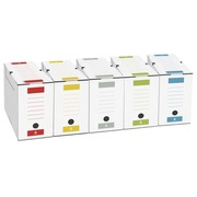 Archive box, back 12 cm, assorted colours