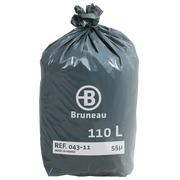 Sac poubelle gris Bruneau premium 110 litres - Colis de 200