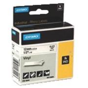 Vinylband Dymo Rhino 19 mm S0718620 weiß mit schwarzer Bedruckung