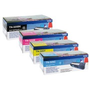 Brother TN325 Pack toner 4 couleurs pour imprimante laser