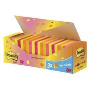 Pack von 24 Post-It Zetteln Früchte 76 x 76 mm
