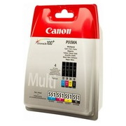 Pack of 4 cartridges Canon CLI551 black + color