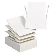 Box of 1000 listing paper Exacompta text treatment 3 exemplaries 240 x 305 mm