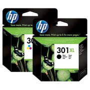 HP 301XL black + 301 XL Pack cartridges 3 colours for inkjet printer