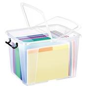 Boîte de rangement plastique 40 L Strata translucide