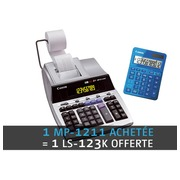 Print calculator Canon MP-1211LTSC - 12 figures + free calculator LS123K blue