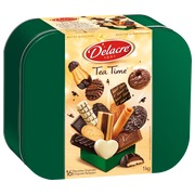 Doos 1kg assortiment koeken Delacre Tea Time