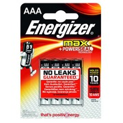 Blister 4 piles Energizer Max LR03