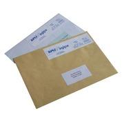 Box of 1000 postage labels 2 pieces 140 x 40 mm Apli Agipa white
