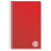 Spiral notebook Bruneau size 13 x 21 cm 300 pages, lined - white