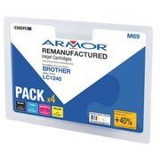Pack cartouche Amor compatible Brother LC1240 4 couleurs pour imprimante jet d'encre