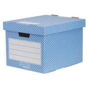 Caisse archives mini carton Fellowes Style H 33,5 x L 40,4 x P 29,2 cm bleue