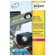 Etiketten grote weerstand laser 199,6 x 139 mm Avery L7068-20 wit - pak van 40