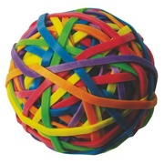 Ball with colored rubber bands Safetool