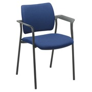 Chair Yota with armrest completely in tissue blue