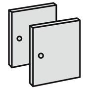 Set van 2 volle deurtjes in hout H 32 x B 32 cm voor Maxicubes Color eik
