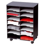 Cabinet multiple compartments black and grey