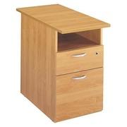 Schubladenblock in Schreibtischhöhe Start Plus T 80 cm - Erle