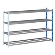 Rayonnage Archiv'Pro élément suivant H 100 x L 148 x P 35 cm tôle d'acier simple accès