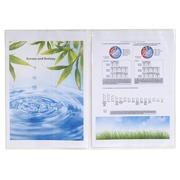 Sachet de 10 étuis de protection doubles PVC lisse 20/100e - A4.