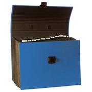 Dokumententasche mit Griff, 12 Fächern, mit dehnbarem Faltenrücken, für Format DIN A4 - Blau (55613E)
