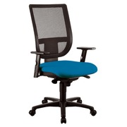 Pack bureaustoel Nao - synchroon - rug in netstructuur en zitting in blauw + aanpasbare armleuningen