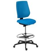 Hoge stoel Ceed-O rug in stof - blauw