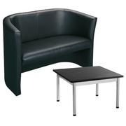 Pack sofa Premium en lage vierkantige tafel klassiek
