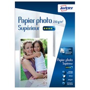 Papier photo brillant Avery 10 x 15 cm 230 g - 50 feuilles