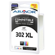 Pack cartridges Armor compatible HP 301XL colors for inkjet printer