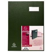 Signature book expanding spine Direction - 12 compartments - A4 - Green (24123E)