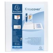 Personalisierbares Ringbuch aus PP 1,9mm, 2 Ringe 40mm, Rücken 64mm, 2 äußere Klarsichthüllen, 32x27,7,cm für DIN A4 Überbreite - Kreacover
