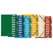 Sorteermap HARMONIKA® met uitrekbare rug en uitgesneden vensters - 12 indelingen. (5312E)