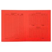 25er Packung Aktendeckel bedruckt Procedure elfenbein 25x32cm - Rot